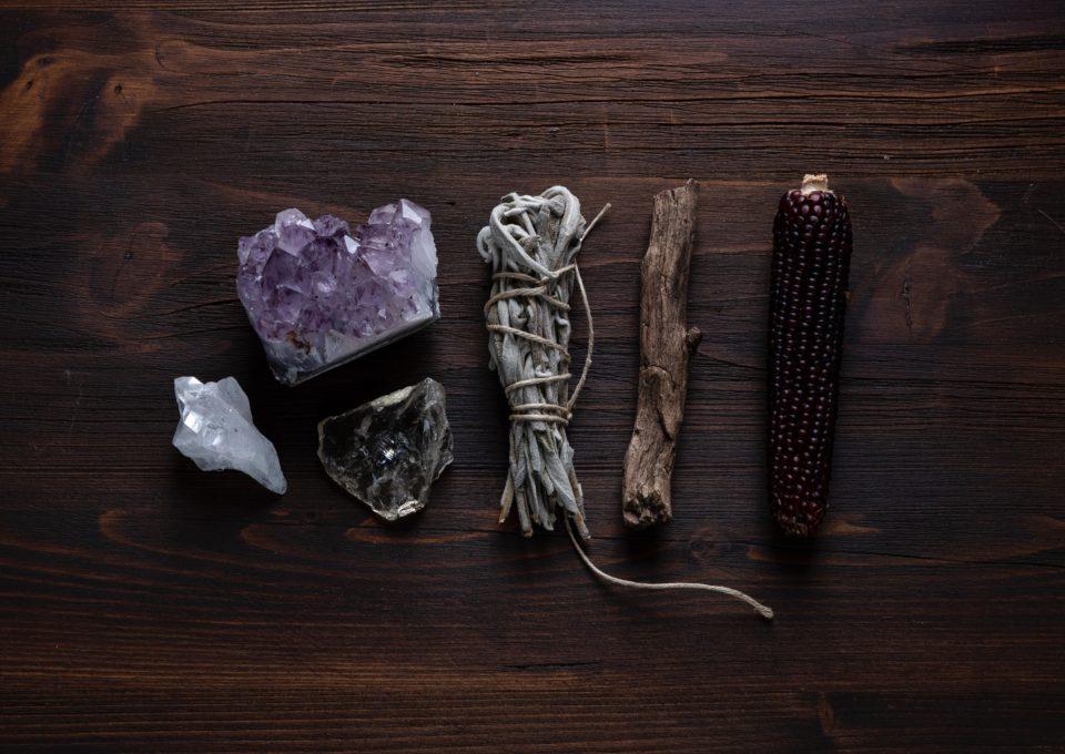 cristales, humidificador natural y madera